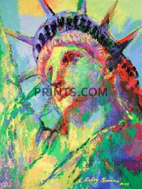 LeRoy Neiman Portrait of Liberty Hand Pulled Serigraph
