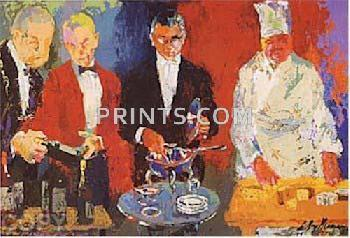 LeRoy Neiman Pour Vous Hand Pulled Serigraph