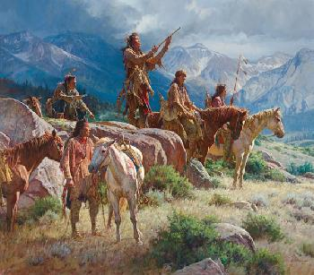 Martin Grelle Prayers of the Pipe Carrier Open Edition on Paper