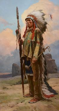 Z S Liang Pride of the Lakota Giclee on Canvas