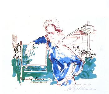 LeRoy Neiman Princess Anne Hand Pulled Serigraph