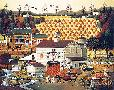 Charles Wysocki Pumpkin Hollow