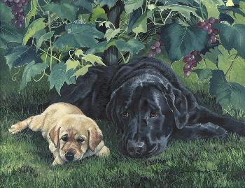 Susan Yoder Puppy Raisers Giclee on Museum Paper