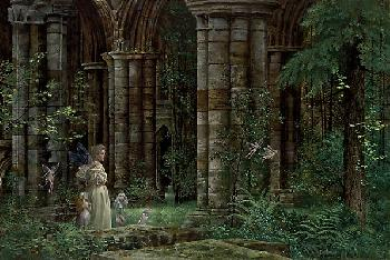 James Christensen Queen Mab in the Ruins