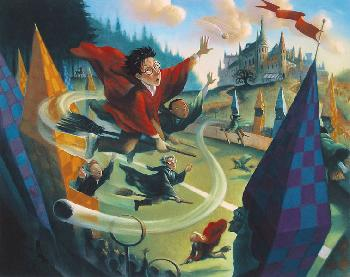 Mary Grandpre Harry Potter - Quidditch Deluxe Giclee Large