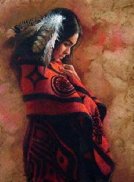 Lee Bogle Quiet Thoughts Giclee on Canvas