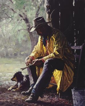 Martin Grelle Quiet Time Giclee on Canvas