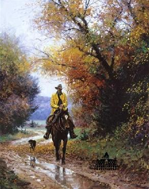 Martin Grelle Rainy Autumn Canvas