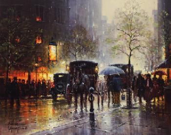 G. Harvey Rainy Day on Central Park South