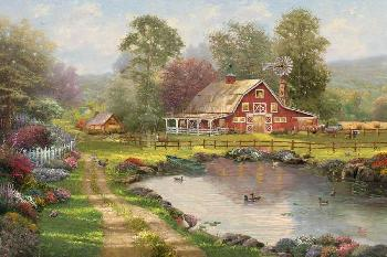 Thomas Kinkade Red Barn Retreat Artist