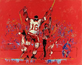 LeRoy Neiman Red Goal Hand Pulled Serigraph
