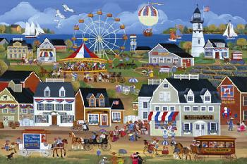 Carol Dyer Red White and Blueberry Festival Giclee on Canvas