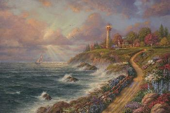 Thomas Kinkade Returning Home Estate Edition on Canvas