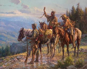 Martin Grelle Reverence Giclee on Canvas