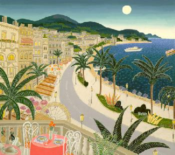 Thomas McKnight Riviera Paradise Serigraph on Paper