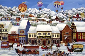Carol Dyer Rocky Mountain Lodge Giclee on Canvas