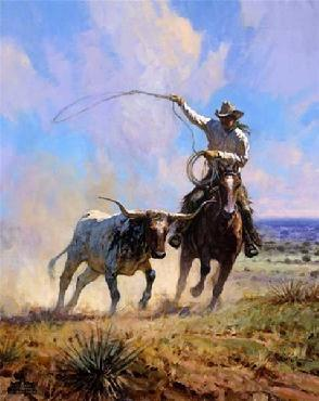 Martin Grelle Ropin a Wild One Signed Open Edition on Paper