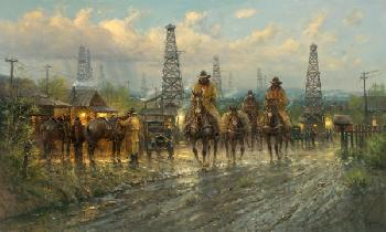 G. Harvey Roughneck Country Giclee on Canvas