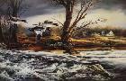 Terry Redlin Rushing Rapids