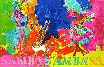 LeRoy Neiman Samba Samba Hand Pulled Serigraph