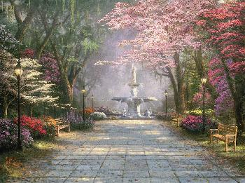 Thomas Kinkade Savannah Romance Gallery Proof on Paper