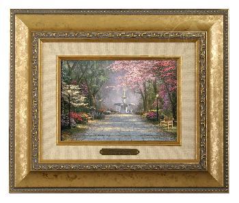 Thomas Kinkade Savannah Romance Brushwork Gold Frame