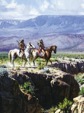 Martin Grelle Scouts in Rough Country Signed Open Edition on Paper