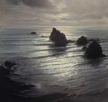 Peter Ellenshaw Seascape by Night