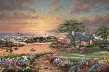 Thomas Kinkade Seaside Cottage Gallery Proof on Paper