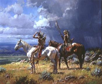 Martin Grelle Seeking the Buffalo Giclee on Canvas