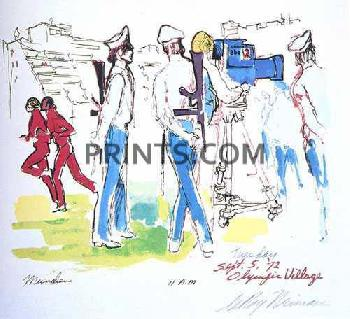 LeRoy Neiman September 5th, 11 AM Hand Pulled Serigraph