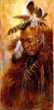 Larry Fanning Shaman Of The Pawnee Giclee on Canvas
