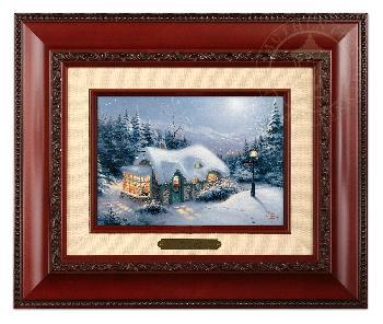 Thomas Kinkade Silent Night Brushwork Brandy Frame