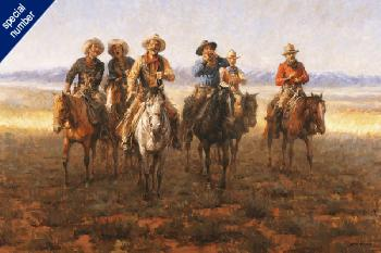 Andy Thomas Singing Cowboys Print #1 Giclee on Canvas