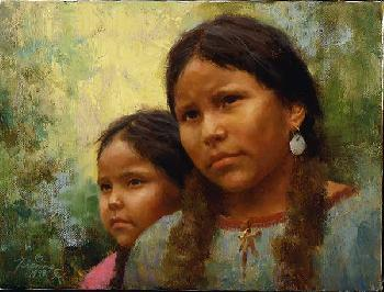 Howard Terpning Sisters Giclee on Canvas