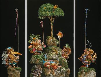 James Christensen Six Bird Hunters In Full Camouflage 3 Print Suite