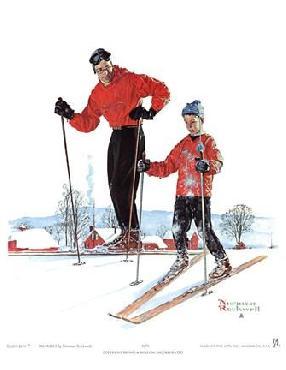 Norman Rockwell Ski Skills