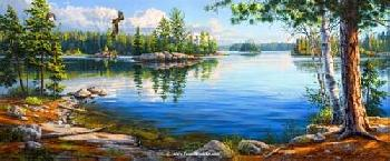 Darrell Bush Sky Blue Waters Artist