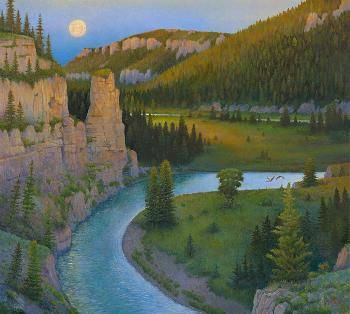 Monte Dolack Smith River in June