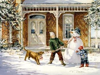 Trisha Romance The Snowman Giclee on Paper