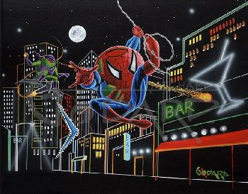 Michael Godard Spider-Tini Giclee on Canvas