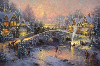 Thomas Kinkade Spirit of Christmas SN Paper
