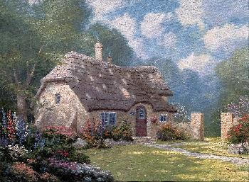 Thomas Kinkade Spring at Stonegate SN Canvas
