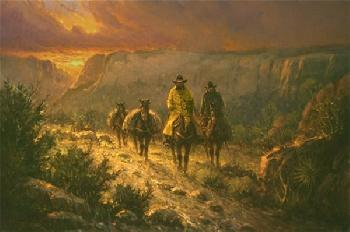 G. Harvey Spring in the Canyon Canvas