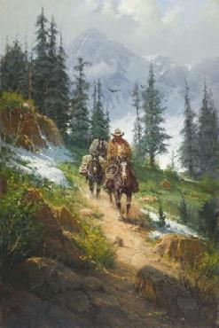 G. Harvey Spring in the Rockies Giclee on Canvas