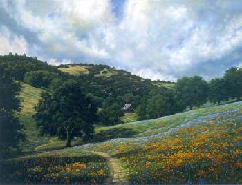 Charles White Spring Meadow Giclee on Canvas