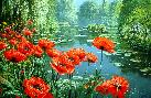 Peter Ellenshaw Springtime - Red Poppies