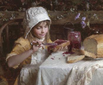 Morgan Weistling Strawberry Jam Giclee on Canvas