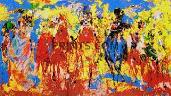 LeRoy Neiman Stretch Stampede Hand Pulled Serigraph
