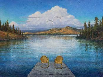 Monte Dolack Summer on Flathead Lake